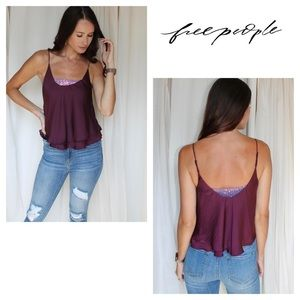 Free People Sequence Turn it on Camisole Purple
